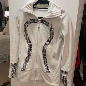 lululemon athletica Jackets & Coats - White detailed Lululemon Jacket sz 6